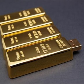Gold Bar 8GB USB Drive