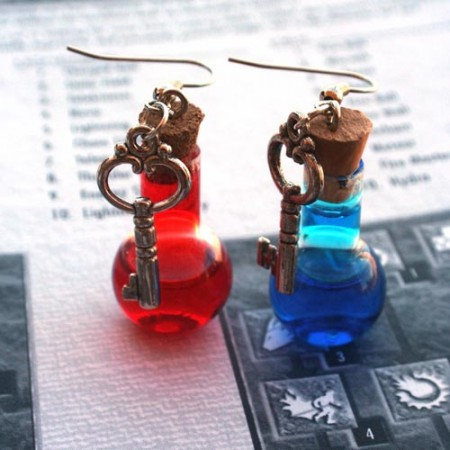 Health & Mana Potion Earrings $15.99