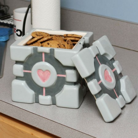 Companion Cube Cookie Jar $34.69