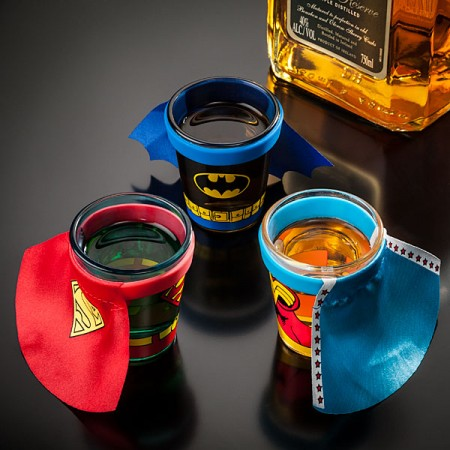 Caped Superhero Shot Glasses $7.99