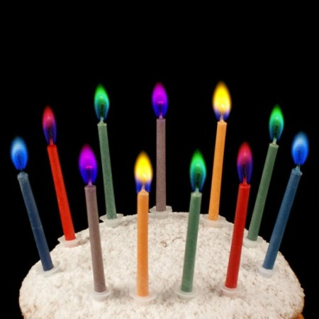 Colored Flame Birthday Candles $1.91