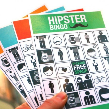 Hipster Bingo Cards $8.00