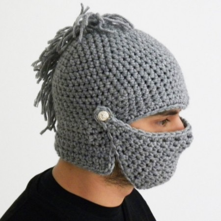 Crochet Knight Helmet Hat $39.00