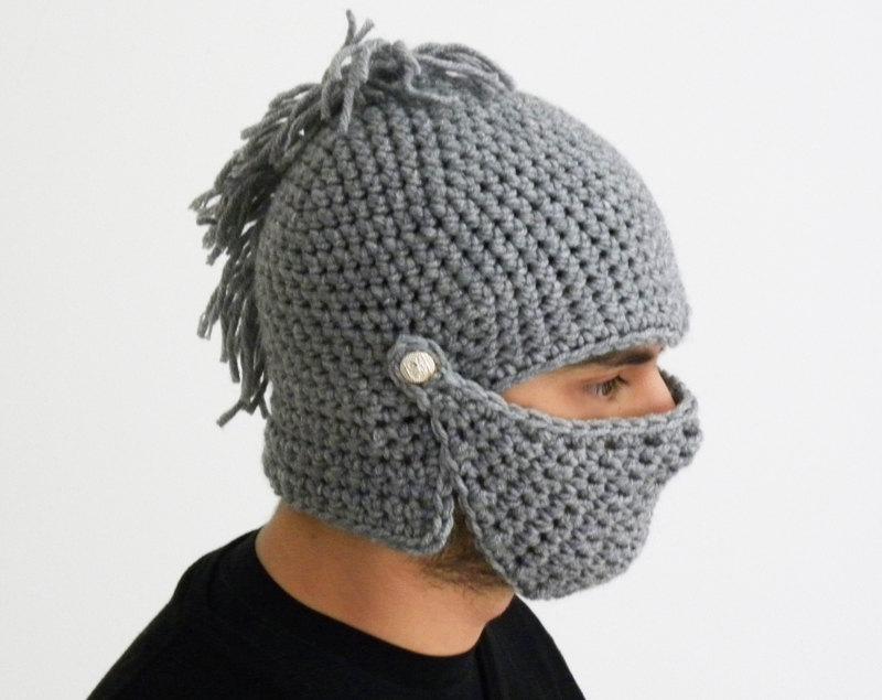 Crochet Knight Helmet Hat Never Ending Stuff