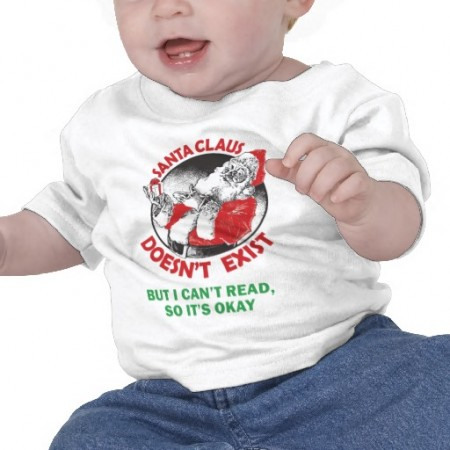 Santa Doesn't Exist Baby Tee $15.65