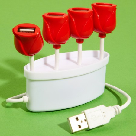 Tulip-Shaped USB Hub $13.73