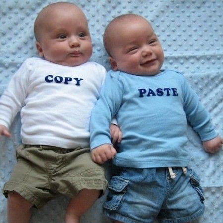 Copy and Paste Twin Shirts $13.99