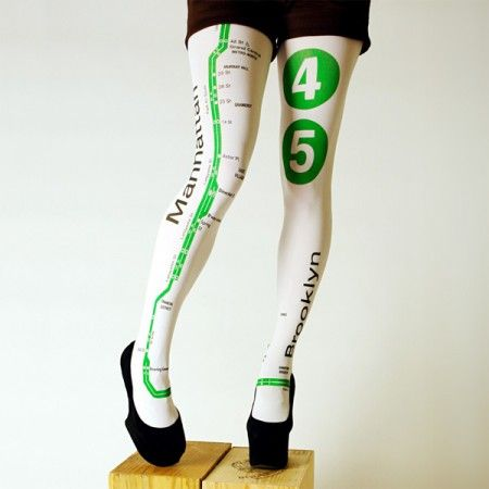 NYC Subway Tights $44.00