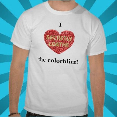 I Heart The Colorblind Shirt $21.75